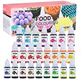 Nemor Food Colouring-24 Colour x 10ml Concentrated Liquid Cake Colouring Set for Baking, Decorating, Icing and Cooking-Rainbow Food Airbrush Dye for DIY Slime and Crafts Making Kit- 10ml Each
