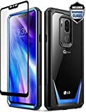 LG G7 Case, LG G7 ThinQ Case, Poetic Guardian [Scratch Resistant] [360 Degree Protection] Full-Body Rugged Clear Bumper Case [with Tempered Glass] for LG G7 ThinQ - Blue