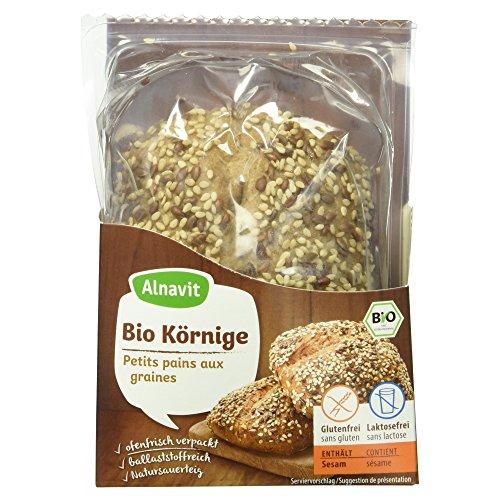 Alnavit Bio Körnige Brötchen, glutenfrei, laktosefrei, (5 x 125 g)