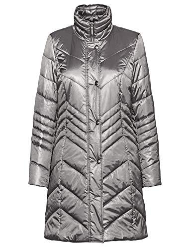 Alba Moda Damen Jacke mit Stehkragen in Dunkelgrau mit dezentem Glanz