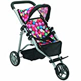 Mommy & Me Doll Stroller Foldable Doll Jogger for Baby...