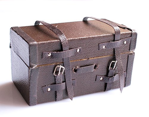 Casa de muñecas miniaturas caso 112Escala, Mini maleta equipaje de transporte de...