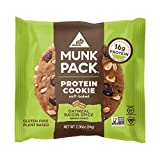 Munk Pack Oatmeal Raisin Spice Protein Cookie with 16 Grams of Protein | Soft Baked | Vegan | Gluten, Dairy and Soy Free | 6 Pack from Munk Pack