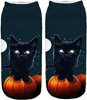 Novelty Ankle Socks, Toamen Halloween Sale Clearance Men Women Unisex 3D Pumpkin Ghost Printed Gift Sports Casual Socks, C...