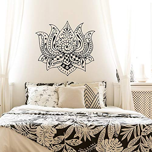 Hetingyue Mandala muurstickers, motief Lotus, muurstickers, wandtattoo, afneembaar, vinyl, zelfklevend