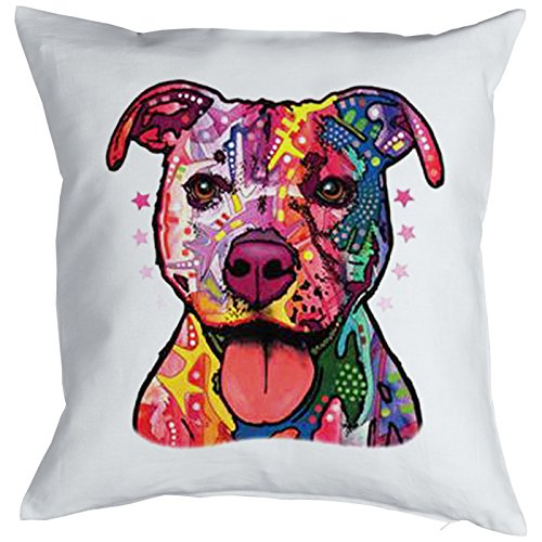 Pit Bull Pillow, oreiller, almohada, Cuscino Pop Art Style