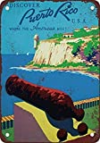 Puerto Rico Travel Poster Vintage Style Wall Home Office