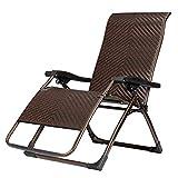 DJLOOKK Silla de ratán para Patio, sillón reclinable de Mimbre Plegable, con...