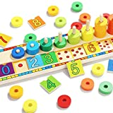 TOP BRIGHT Juego Educativo Montessori - Puzzle de Numeros, Anillos y Bloques de...
