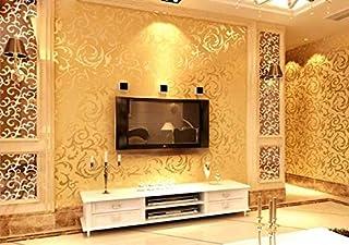 3D non-woven wallpaper European hook flower background wall bedroom living room hotel hotel shop wallpaper - xsq