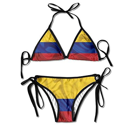 HaSaKa Colombian Silk Flag Of ColombiaFashion Sexy Swimwear Women Bikini 2 Pieces Swimsuit