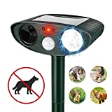 Humutan Ultrasonic Dog Mosquito Repellent, Outdoor Powered and Non-Windproof ultrasonic pest Repellent, cat Repellent with Motion Sensor and cat, Dog, Bird and Skunk Flash Sound generators
