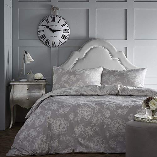 Dreams & Drapes, 52 % polyester/48 % Coton, Gris, lit Simple, 140 x 200 cm (Housse de Couette), 48 x 76 cm (taie d'oreiller).