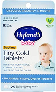 Hyland's Baby Tiny Cold Tablets, Natural Relief of Runny Nose, Congestion, and Occasional Sleeplessness Due to Colds, 125 ...
