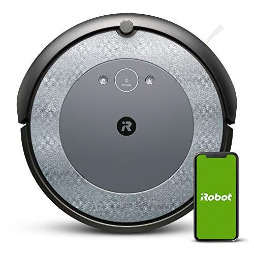 Aspirateur Robot connecté iRobot® Roomba®i3152 - 2brosses en Caoutchouc Multi-Surfaces - Idéal pour Les Animaux - Suggestions personnalisées - Cartographie - Compatible Braava Jet m6