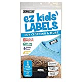 Ez Kids Clothing Labels Self-Stick No-Iron Write-On | Great for Children & Adults | Washer...