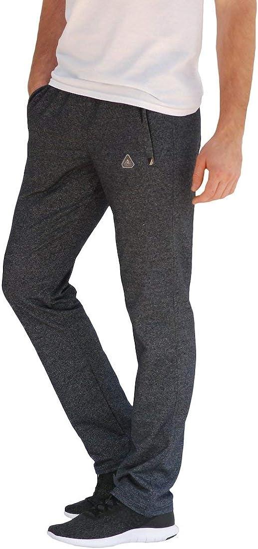 SCR SPORTSWEAR S-4X 30/32/34/36/38 Long Inseam Men's Sweatpants Workout Athletic Running Sweats Lounge Pants Zipper Pockets