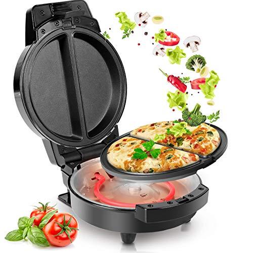 Duronic OM60 Omelette maker | Omlette Grill 600W | Antihaft-Kochplatte | Automatische Temperaturregelung | Für Omlettes, Calzone, Tortilla, Apfel- oder Maultaschen oder kleine Kuchen