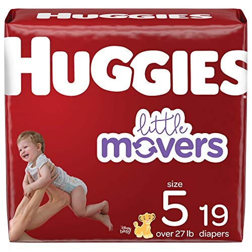 Baby Diapers Size 5, 19 Ct, Huggies Little Movers