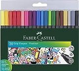 Faber-Castell - Estuche con 20 rotuladores de punta fina grip (151620)