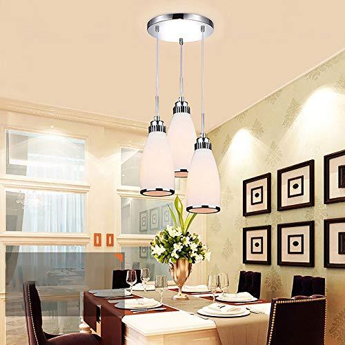 luz de techo LCSD Araña De Restaurante Minimalista Moderna Personalidad Creativa Lámpara De Comedor De Tres Cabezales Iluminación De Dormitorio Mesa De Bar LED Lámpara De Techo For Comedor