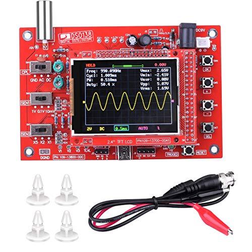 "DSO138 Oscilloscope, DSO 138 DIY Mini Oscilloscope, 2.4"" TFT 1MSPS Digital Oscilloscope Kit Handheld Pocket Sized 13803K (Welded Version)"