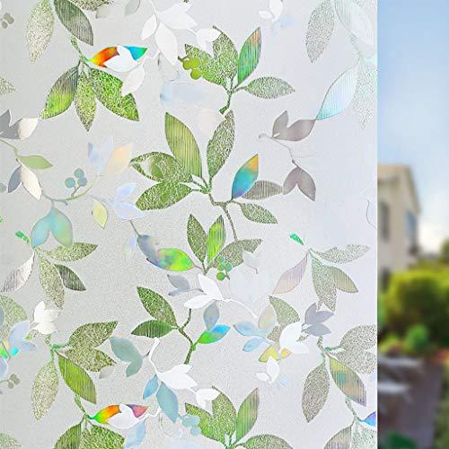 BLSTY verduisterende raamfolie, geen lijm warmte-isolerend glas stickers decoratief voor thuis badkamer privacy anti-UV statische film