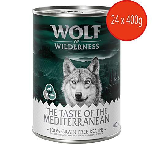 Wolf of Wilderness Adult Sparpack 24 x 400 g – Der Geschmack des Mittelmeers