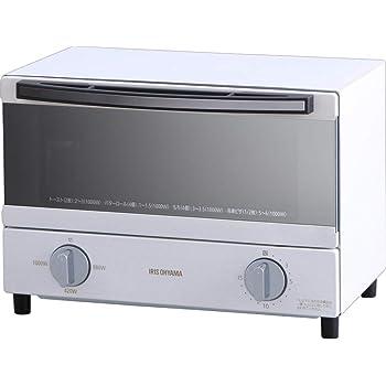 アイリスオーヤマ スチーム オーブントースター 2枚 焼き 温度調節 トレー タイマー機能付 横型 ホワイト SOT-011-W