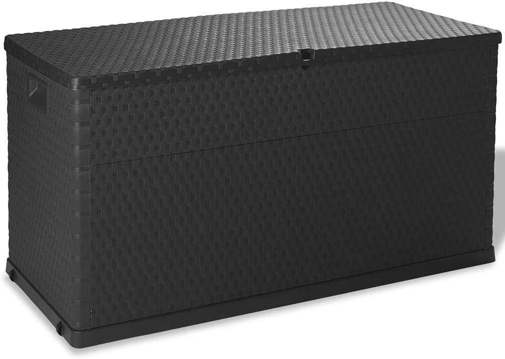 FAMIROSA 111 Gallon Garden Storage Deck Box Under blast sales Outdoor Fashion Cushion Pati