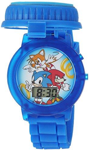 Sonic the Hedgehog Kids' SNC4020 Digital Display Quartz Blue Watch