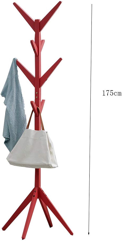 Coat Rack Coat Rack Stand,Coat Rack Coat Hat Stand Garment Rack, Multifunction Storage Rack greenical Coat Rack, Wood Modern Simplicity Living Room Bedroom Study,B,45  45  175CM