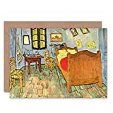 Wee Blue Coo Vincent Van Gogh Bedroom Old Master Art Painting Blank Greetings Card