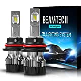 BEAMTECH 9007 LED Headlight Bulb,30mm Heatsink Base CSP Chips 10000 Lumens Hi/Lo 6500K Xenon White Extremely Super Bright Conversion...