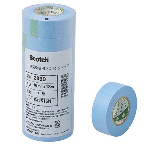3M スコッチ 建築塗装マスキングテープ 2899 18mm×18m 7巻 2899 18X18