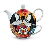 Egan PWM81/1S Teaforone, Modello Sweet Love, Porcellana, Rosso, Unica