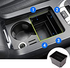 HOTRIMWORLD Interior Center Console Cup Holder Storage Box for Land Rover Discovery Sport 2015-2018