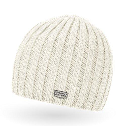 Neverless Coole Strickmütze für Herren, Winter-Mütze, Navik creme, unisize