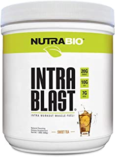 NutraBio Intra Blast Natural (Sweet Tea) - Naturally Sweetened and Flavored Intra Workout