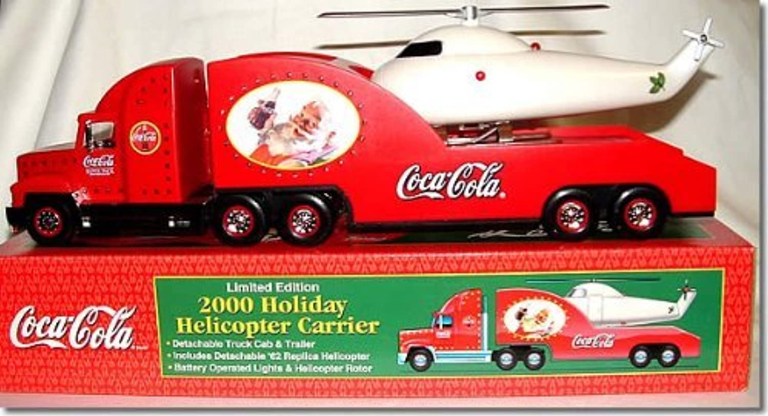 Coca-Cola Holiday Helicopter Carrier with Lighted Truck Limited Edition by Phat Boyz
