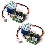KOOKYE 2 x 28BYJ-48 DC 5V Stepper Motor + ULN2003 Driver Test Module Board for Arduino Raspberry Pi