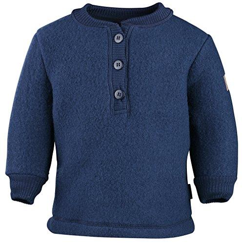 mikk-line Unisex Baby Woll-Shirt Sweatshirt, Blau (Blue Nights 287), 80