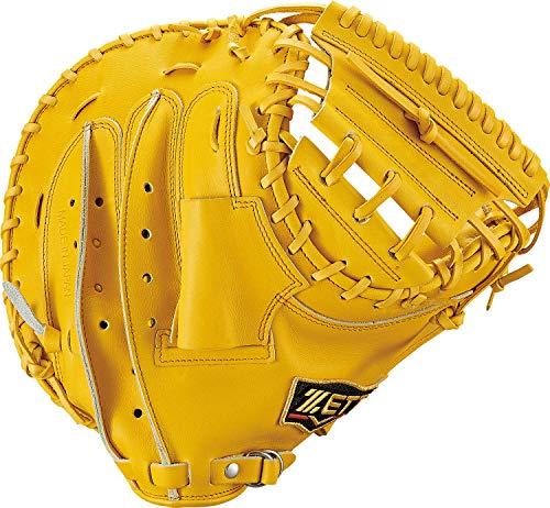 ZETT(ゼット) 軟式野球 プロステイタス キャッチャーミット 新軟式ボール対応 トゥルーイエロー(5400) 右投げ用 BRCB30912