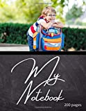 My Notebook: Notebook back to school. Journal of 200 lined pages 8.5x11 inches