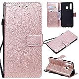 KKEIKO Hülle für Galaxy A8S, PU Leder Brieftasche