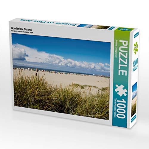 CALVENDO Puzzle Norddeich, Strand 1000 Teile Lege-Größe 64 x 48 cm Foto-Puzzle Bild von Andrea Dreegmeyer