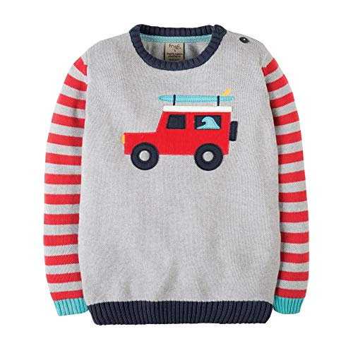 Frugi Grey Truck Knitted Jumper 9-10 Years