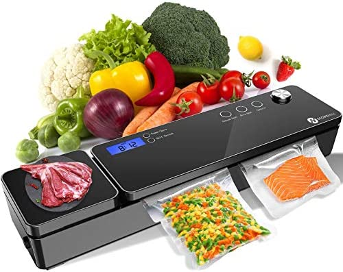 Slopehill Vacuum Sealer Machine Automatic Vacuum Air Sealing System with Kitchen Scale LCD Display product image