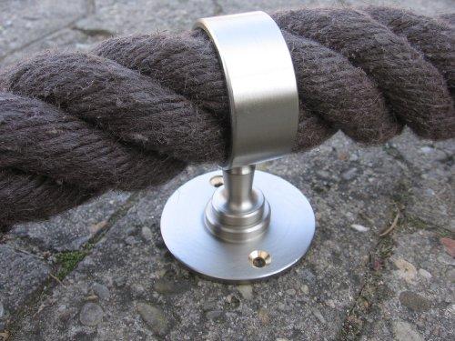 Gepotex Support en nickel pour corde de rampe 40 mm