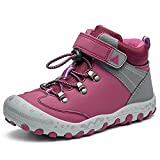 Boy's Girl's Hiking Boots Water Resistant Outdoor Hiking Shoes Children Running Trekking Boots Anti-Collision Non-Slip Toddler Purple Size US 8.5 Toddler